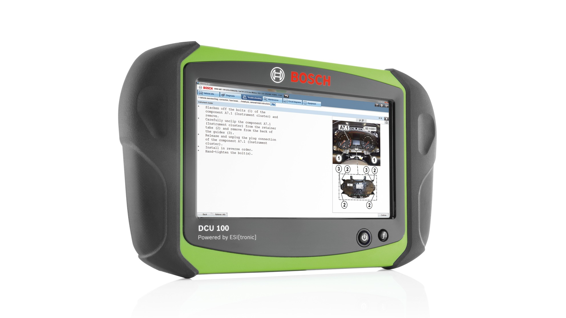 Bosch DCU 100 - Rugged Diagnostic Tablet Hand Held Diagnostic System from Automotive Garage Equipment Ireland